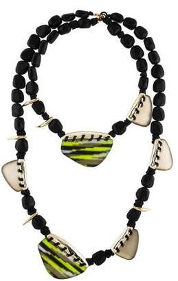 Alexis Bittar Resin & Lucite Station Necklace