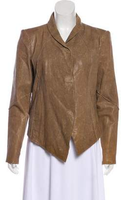 Helmut Lang Distressed Leather Jacket