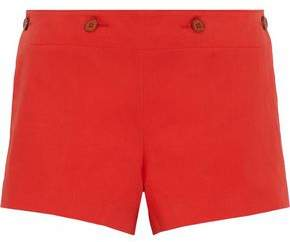 M Missoni Button-Detailed Cotton And Linen-Blend Twill Shorts