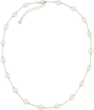 Majorica Multi-Pearl Chain Necklace, White