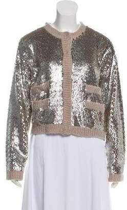 By Malene Birger Embellished Wool-Blend Cardigan
