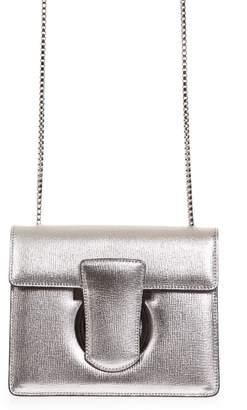 Salvatore Ferragamo Thalia Silver Leather Shoulder Bag