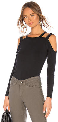 Chaser Vintage Rib Strappy Open Shoulder Tee