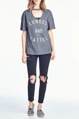 Knit Riot Lunges Lattes Tee