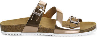 Office Bounty metallic strap sandals
