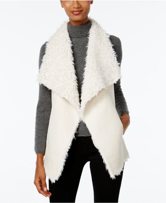 INC International Concepts Faux Sherpa Traveller Vest, Only at Macy's $99.50 thestylecure.com