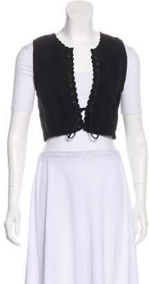 Chloé Knit Button-Up Vest