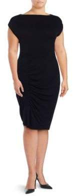 Plus Ruched Sheath Dress