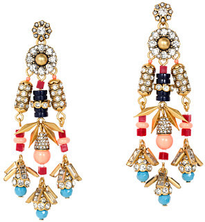 J.Crew Jeweled color burst earrings