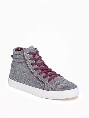 Old Navy Chambray-Sparkle High-Tops for Girls