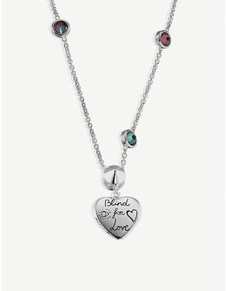 0ffd73f13 Gucci Blind for Love sterling silver and multi-coloured zirconia necklace