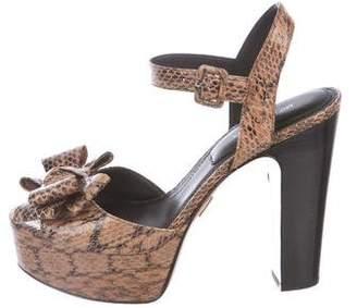 Michael Kors Gramercy Embossed Platform Sandals