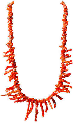One Kings Lane Vintage Red Branch Coral Necklace - Maeven