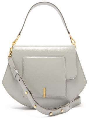 Wandler Al Crinkled Patent Leather Cross Body Bag - Womens - Grey