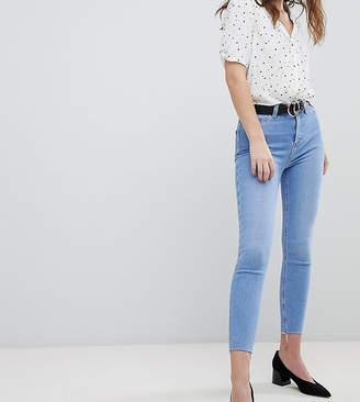 New Look Super Skinny High Rise Frayed Hem Jean