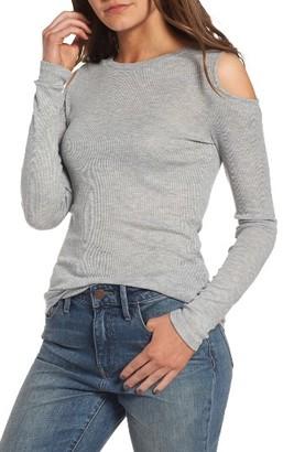 Women's Treasure & Bond Cold Shoulder Tee $39 thestylecure.com