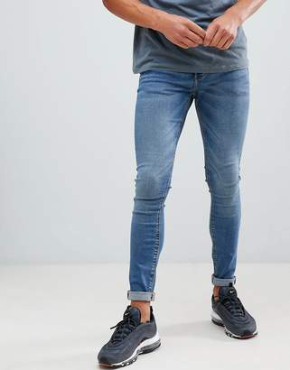 Pull&Bear Super Skinny Jeans In Blue