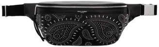 Saint Laurent Black Vintage Studded Belt Bag