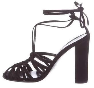 Hermes Suede Caged Sandals