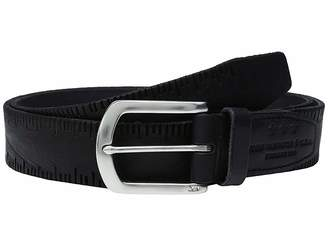 John Varvatos Scored Edge Belt with Harness Buckle Men's Belts