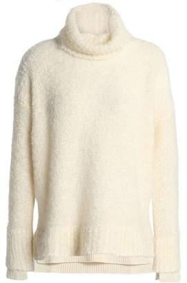 Agnona Rib-trimmed Wool-blend Boucle Sweater