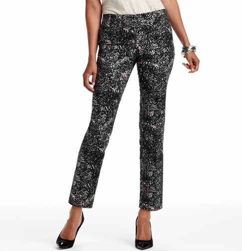 Marisa Ankle Pants in Bird Tracks Print Doubleweave Cotton