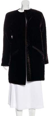 Oscar de la Renta Velvet Open-Front Coat