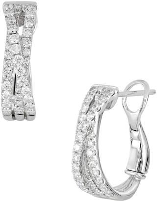 Bony Levy Twist Diamond Hoop Earrings