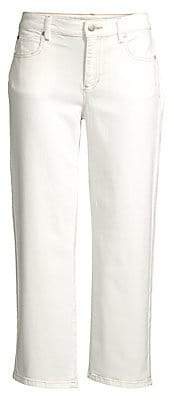 Eileen Fisher Women's Undyed Organic Cotton Cropped Straight Jeans