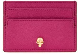 Alexander McQueen Fuchsia Leather Card Holder