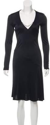 Versus Long Sleeve Midi Dress