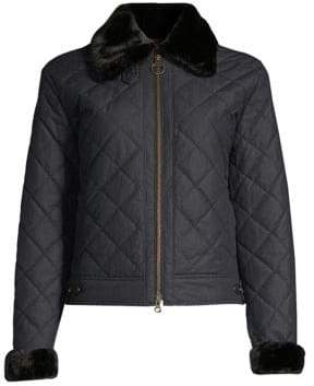 Barbour Tetbury Faux Fur-Trimmed Jacket