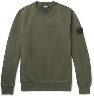Stone Island Shadow Project Fleece-Back Cotton-Jersey Sweatshirt