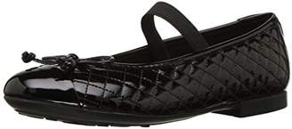 Geox Girls' Plie 48 Quilted Slip-On Patent Ballet Flat Mary Jane