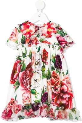 Dolce & Gabbana flower appliquée floral dress