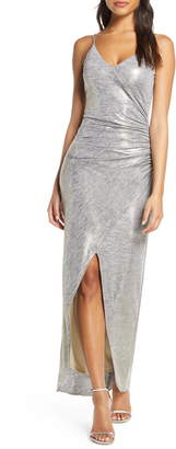 Vince Camuto Ruched Side Evening Gown