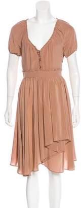 Just Cavalli Ruffle-Trimmed Midi Dress