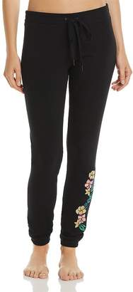 PJ Salvage Peachy Jersey Knit Embroidered Pants