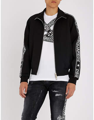 DSQUARED2 Branded-panel woven jacket