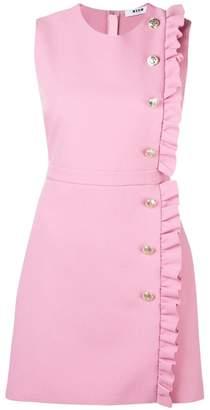 MSGM ruffled sleeveless dress