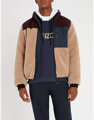 Kenzo Panelled shearling jacket
