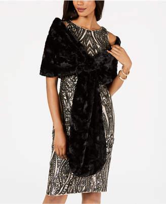 Sl Fashions Faux-Fur Shrug