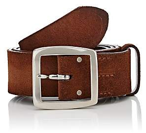 Felisi Men's Brushed Suede Belt-Med. brown