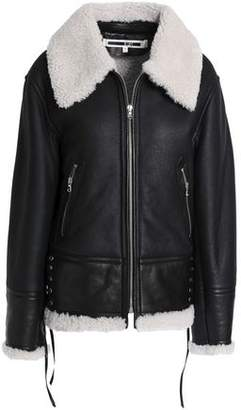 McQ Lace-Up Shearling Jacket