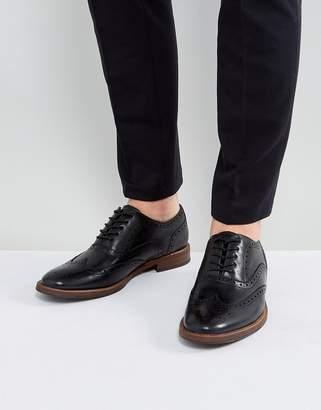 Aldo Bartolello Leather Brogue Shoes In Black