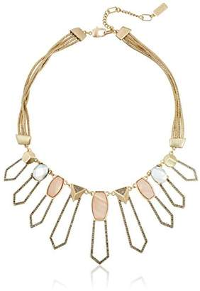 Kenneth Cole New York Tectonic Plates Pave Shell Geometric Open Statement Necklace