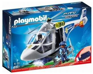 Playmobil 6921 Police Helicopter with LED Searchlight