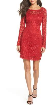 Sequin Hearts Sequin Lace Sheath Dress