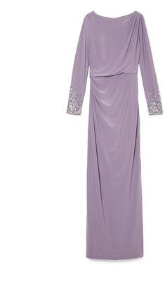 Vince Camuto Jersey Jeweled-sleeve Gown