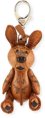 MCM Visetos Rabbit Handbag Charm, Cognac
